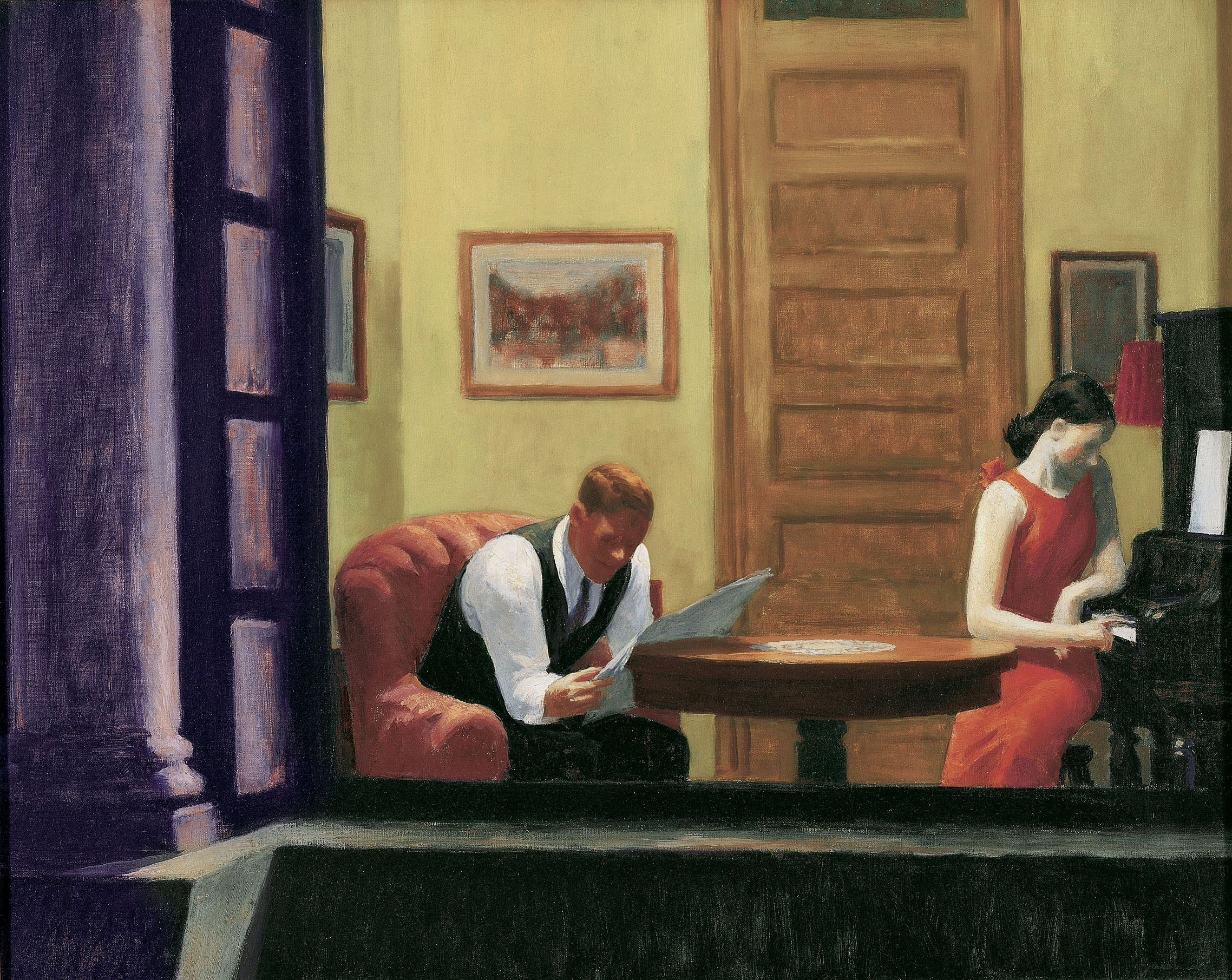 Edward Hopper - Room in New York. Fonte